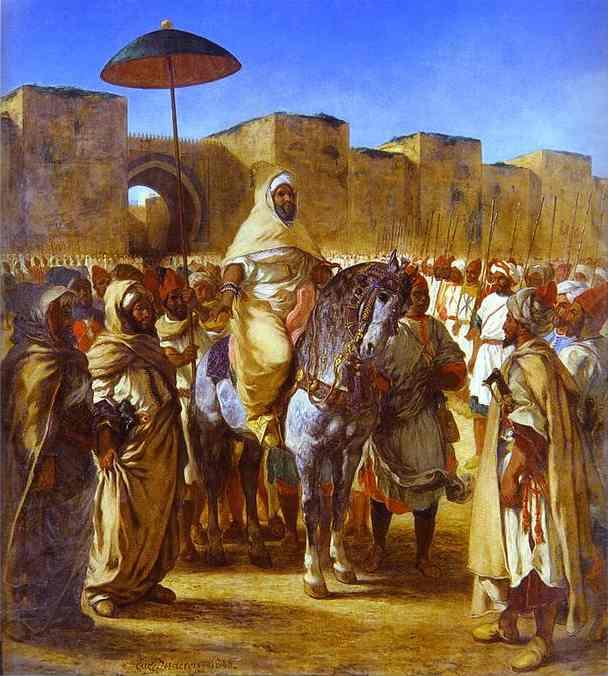 Le Sultan du maroc et son entourage,1845.jpg