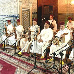 Rabat , orchestre de musique andalouse au theatre.jpg