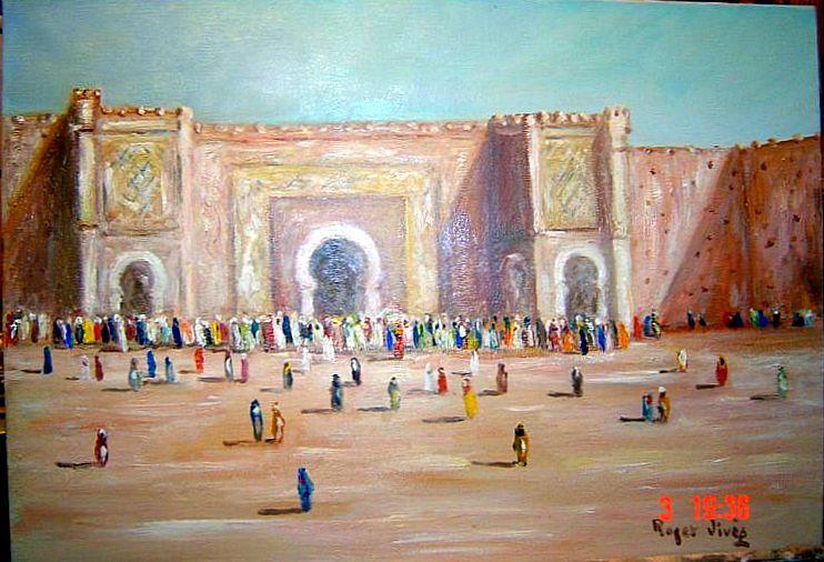 Bab El Mansour a MEKNES , Roger Vives.jpg