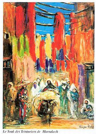 Roger Vives, le souk des teinturiers a Marrakech.jpg