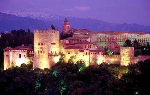 Granada, the Alhambra at night.jpg