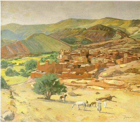 J.Majorelle-Village dans une haute vallee de l\'Atlas-1955-1.jpg