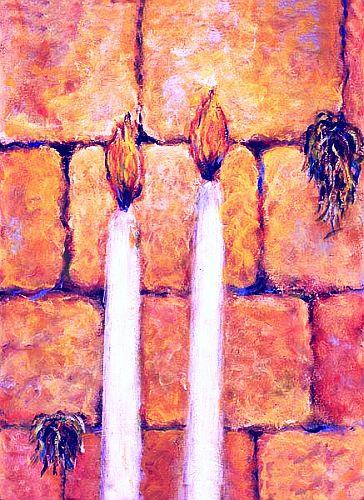 Bougies de Chabat au Kotel.jpg