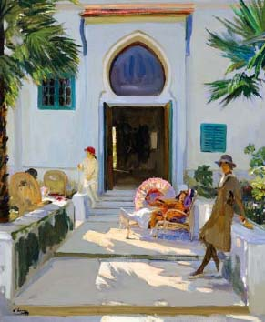 Lavery la porte de mon studio a Tanger.jpg
