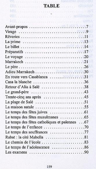 Anna Riviere, Bou Regreg,table des matieres.jpg