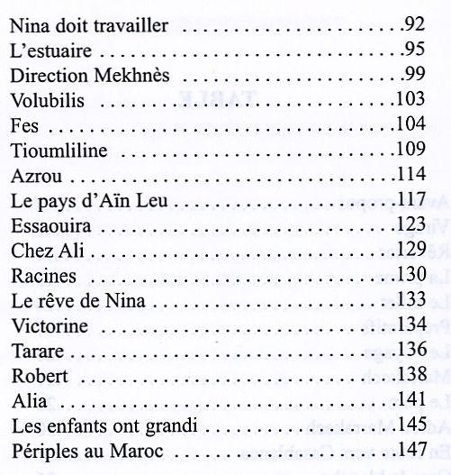 Anna Riviere, Bou Regreg,table des matieres, suite.jpg