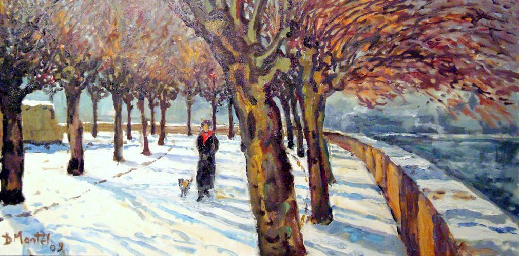 Dominique Mantel Le Rabois sous la neige, toile.jpg