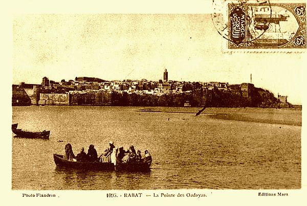 Maroc-Rabat-pointe-OudayasUne vue qui a été immortalisée par de nombreux peintres, en particulier Gaston Mantel et Henri Pontoy..jpg
