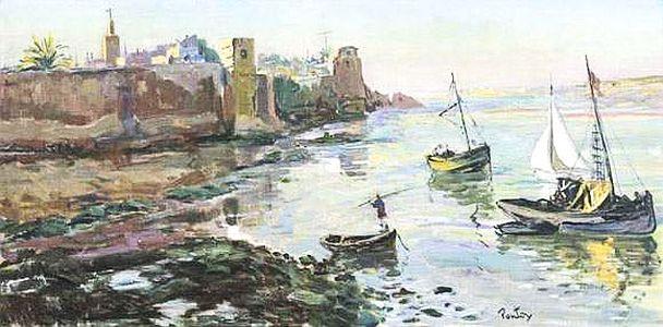 Henry PONTOY  - Vue des Oudayas huile sur toile.jpg