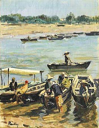 Henri Pontoy, Barques sur le Bou Regreg.jpg