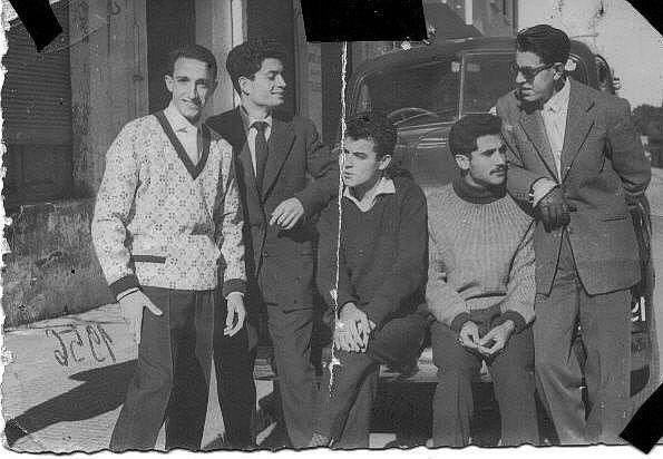 6.Rafalfa, Jacques et raphy Cohen , Maurice Alban et Jojo Benaroch a Rabat 1955.jpg