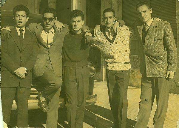 7.Jacques, Jojo, Raphy , Rafalfa et un copain a Rabat.jpg