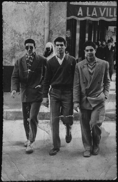 Jojo Benaroch a Casablanca en 1954 avec Michel Bendavid et Mimi Benaroch.2.jpg