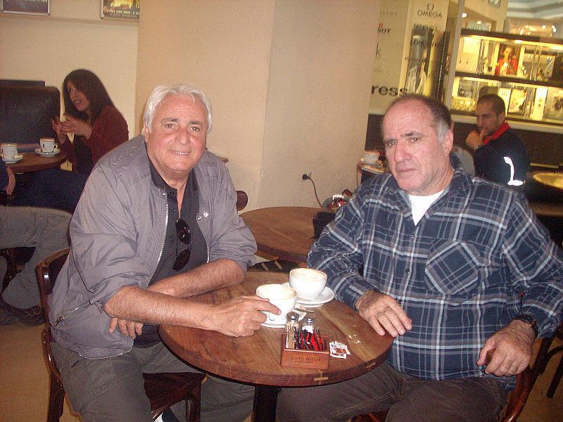 Loulou Benaccoun et son ami lors de sa visite en Israel..jpg
