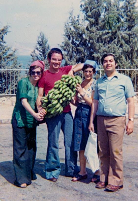 Viviane, Elie,Olga et Maurice Cohen au Galil en Septembre1976.jpg