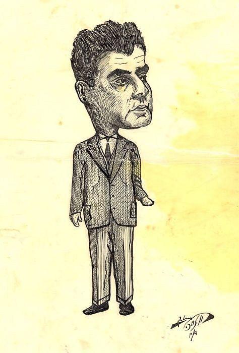 2.Caricature de Aaron Cohen par Raphael Cohen, 1957.jpg