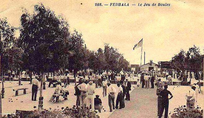 Partie de petanque a Fedala , au Maroc d\'Antan.jpg