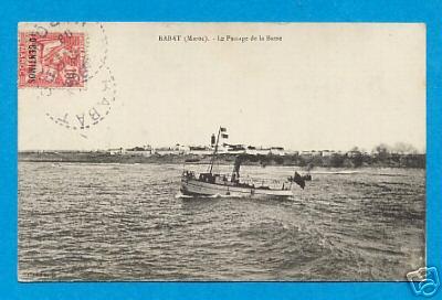 Rabat le passage de la Barre ,timbre 1908.jpg