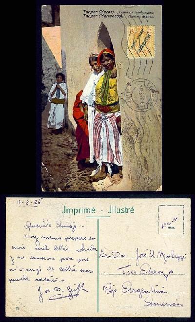 3.Tanger , femmes mauresques 12 fev.1926.JPG