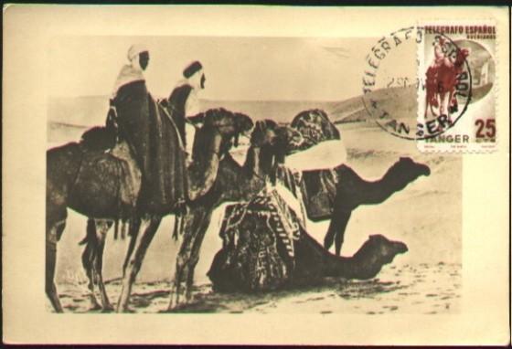 1.Timbre de Tanger, Telegrafo Espanol.JPG