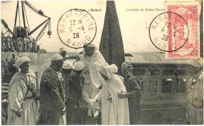 1.A Rabat, l\'arrivee du Sultan a la gare.JPG