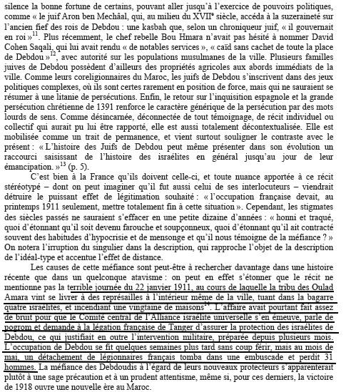 Debdou - Conséquences de l\'attaque des Ould Amara le 22 janvier 1911 -.jpg