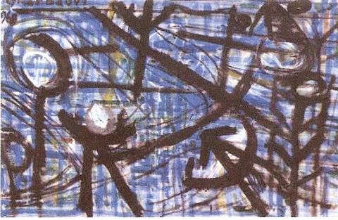 Gharbaoui jilali-Composition1968-Huile sur toile(65x100)-1.jpg