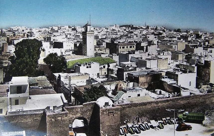 maroc- rabat--la ville ancienne muraille des andalous, Bd Joffre, les charettes, photo des temps passés.jpg