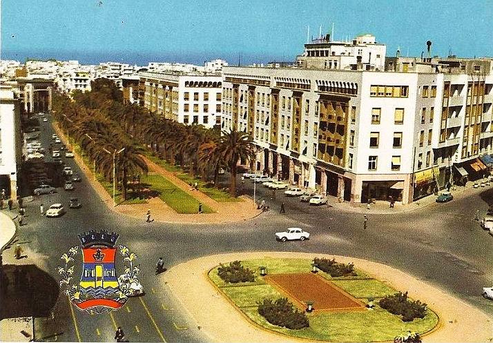 Rabat - Vue aérienne sur l´Avenue Mohammed V - 1960.jpg