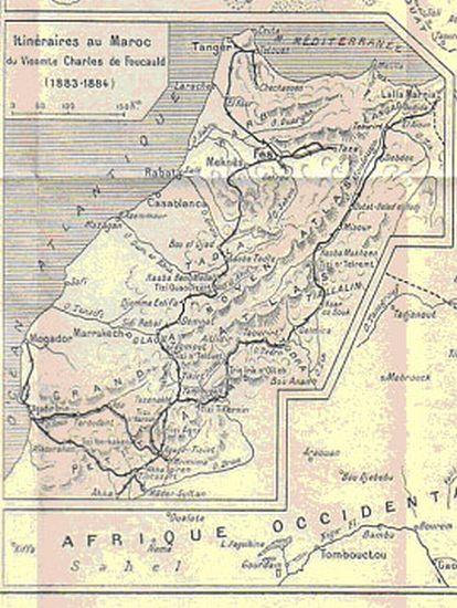 Itineraire de Foulcauld lors de sa decouverte du Maroc.jpg