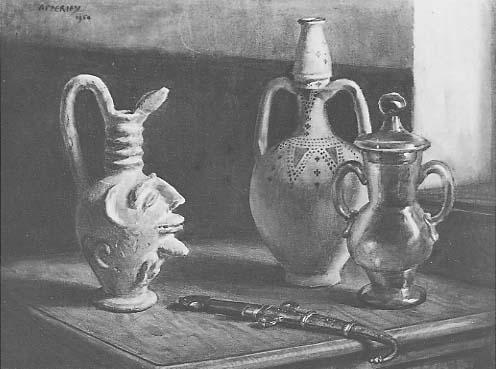 bodegon_del_jarro_fenicio,1954 Apperley, aquarelle.jpg