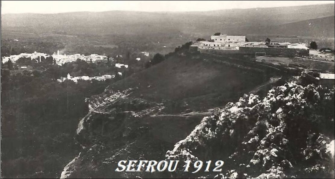 VUES DE SEFROU ET LE FORT PRIOUX 1912.JPG