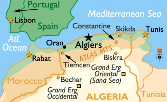 Map of Algeria showing location of Oran in relation to Rabat.jpg