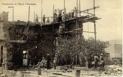 Morocco -  construction of the church of Oudjda..jpg