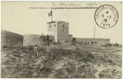 Taza 1916, fort militaire, texte sur la guerre du Rif.jpg