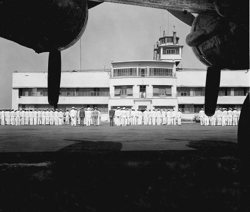 An August, 1947 Full Dress Inspection in front of the Main Hangar..jpg