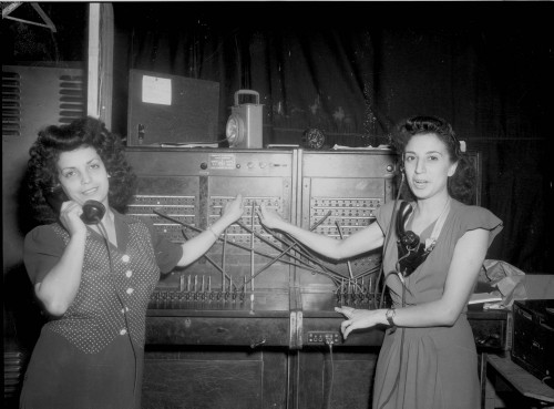 Two civilian ladies from Port Lyautey who, in 1947 - 48 operated the Base\'s telephone switch board. All of the civilian employees were good, dependable workers...jpg