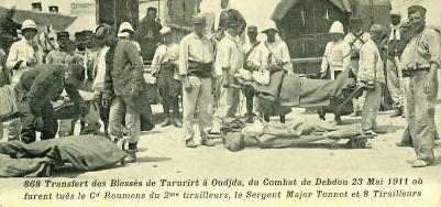 mai 1911 transfert des blesses de taourirt a oujda.jpg