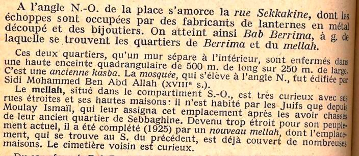 Guides Bleus du Maroc, 1930, Meknes et son Mellah.jpg