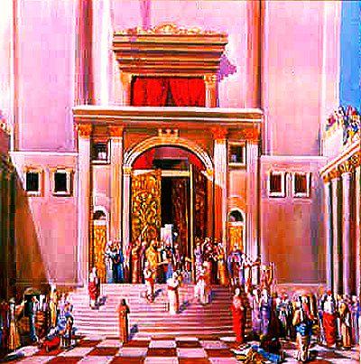 La Porte Nicanor, vue de la Cour des Femmes a la plateforme du Beth Hamikdach.jpg