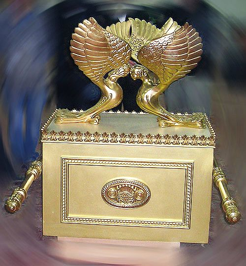 The ark of the covenant is the only object that is placed within the Holy of Holies. Once a year, on Yom Kippur, the Day of Atonement, the high priest enters the Holy of Holies.jpg