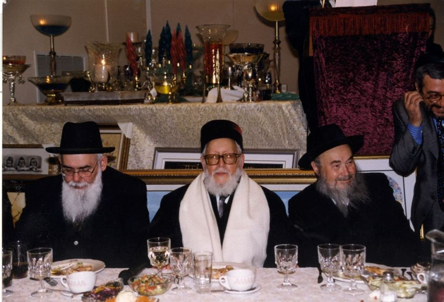 Gala 1999,Grand  Rabbin Sabah communaute sefarade Quebec, Rabbin Raphael Aharone Monsonego et  un rabbin secretaire.1.jpg