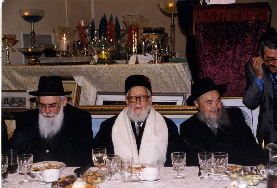 Gala 1999,Grand  Rabbin Sabah communaute sefarade Quebec, Rabbin Raphael Aharone Monsonego et  un rabbin secretaire.1.jpg