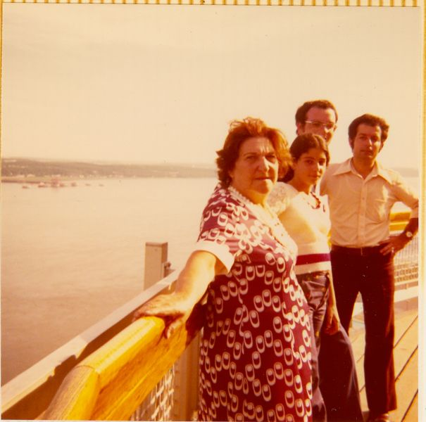 Simy Monsonego,Cathy, Elie et Jacques a Quebec ,1974.jpg