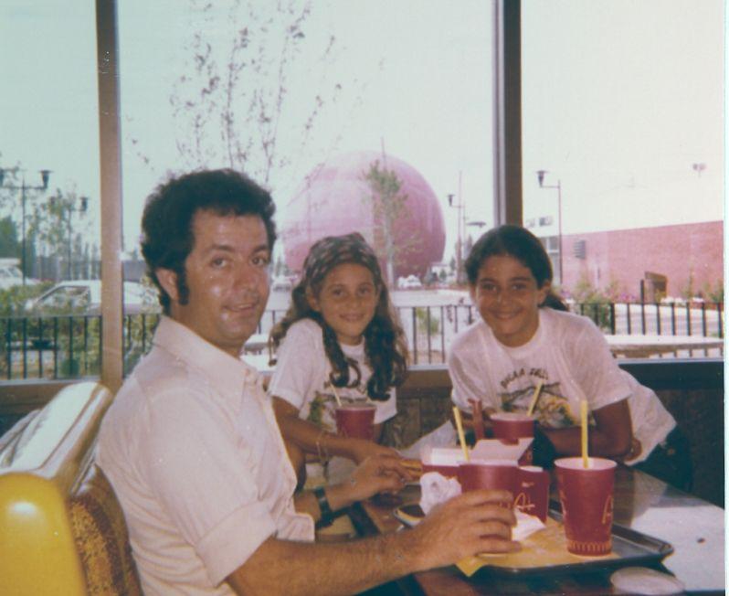 Jacques, Sima et Cathy Cohen , Montreal , l\' Orange, Aout 1974.jpg