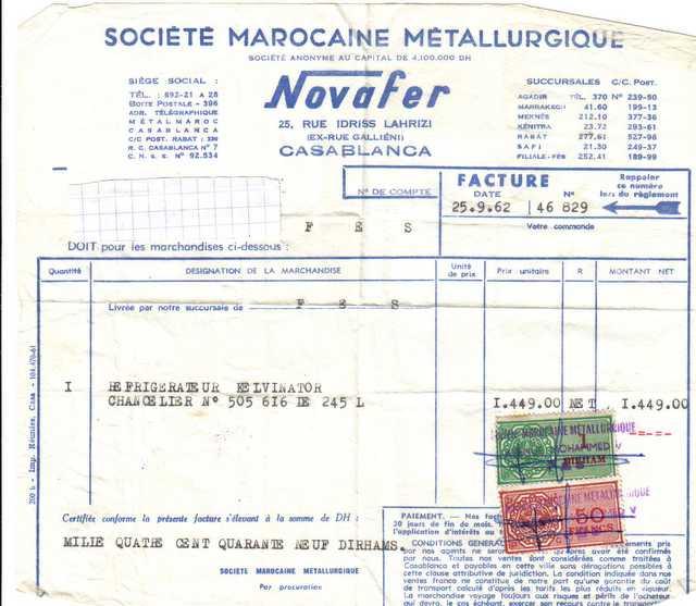 exemple facture marocaine