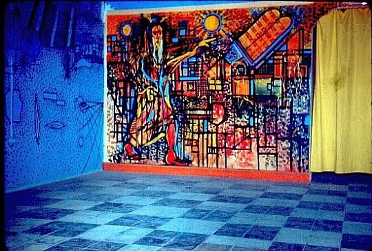 Muraux de Raphael Cohen et ateliers de travail des EIM à leur local scout de Rabat.jpg