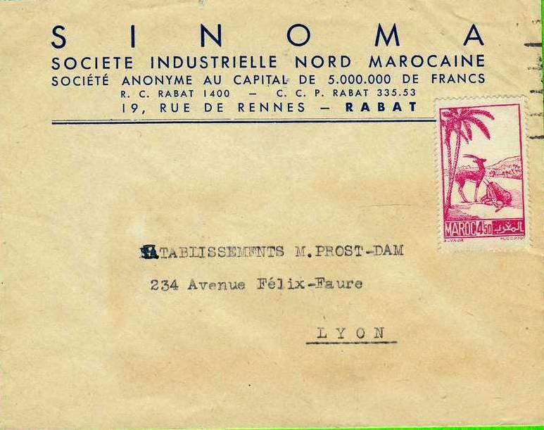 Sur En-Tête SINOMA de Rabat - MAROC - 1 timbre ed2.jpg
