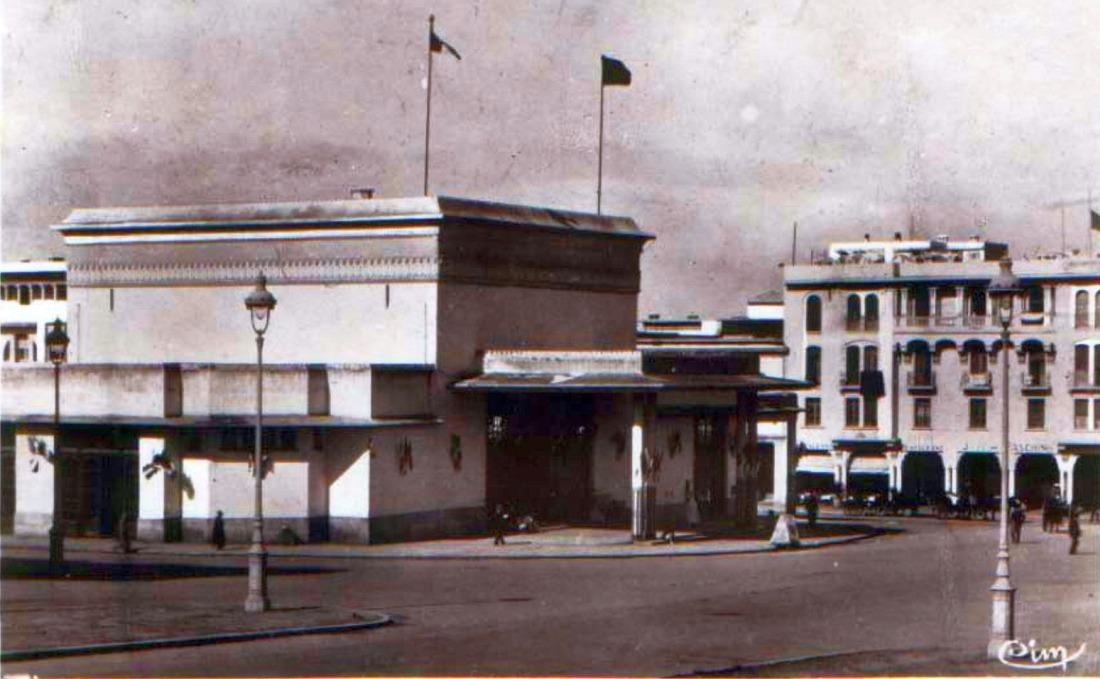 RABAT , LA GARE,en 1939.jpg