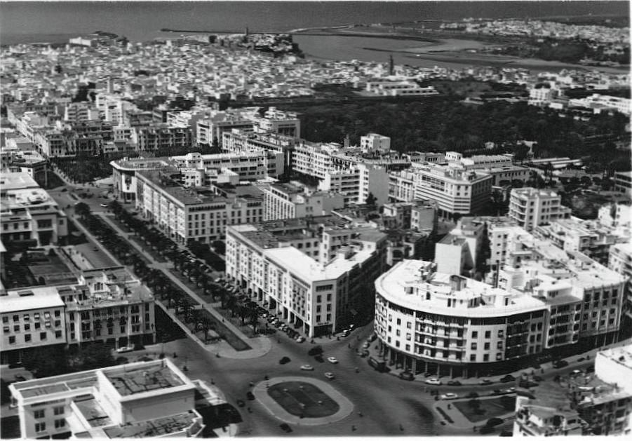 Rabat vue d'avion , océan, fleuve, centre ville.jpg